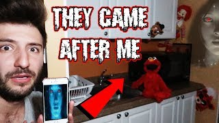 (SHE SENT THEM AFTER ME) DONT LET SIRI TALK TO TOYS AT 3 AM | ELMO FREDDY FAZBEAR & RONALD MOVED!