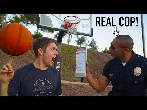 I CHALLENGED A POLICE OFFICER to Basketball Trick Shot H.O.R.S.E.