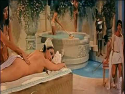 Liz Taylor as CLeopatra Getting Nude Back Massage
