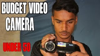 Budget video camera under 50 $ Unboxing and Review | How to Urdu