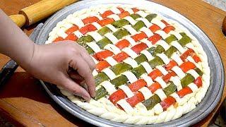 جدييد 👍 فطيرة البيتزا أو خبزة معمرة في الفرن بحشوة لذيذة جدا وشكل راقي تستحق التجربة