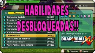 Dragon Ball Xenoverse:HABILIDADES DESBLOQUEADAS!!! [MOD]