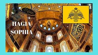 ISTANBUL, inside the historic Basilica of HAGIA SOFIA (Ἁγία Σοφία, Ayasofya), TURKEY
