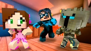 Pat and Jen Become BABIES and BLOW UP a House! (Minecraft Who's Your Daddy Roleplay) Teen Titans GO!
