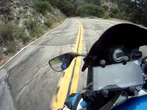 Palomar Mountain, South Grade Road on a Kawasaki ZX6R