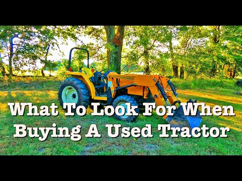 What to look for when buying a used tractor.