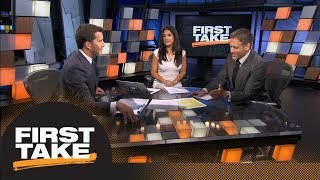 Max, Will Cain debate if Adrian Peterson will be able to start for Redskins | First Take | ESPN