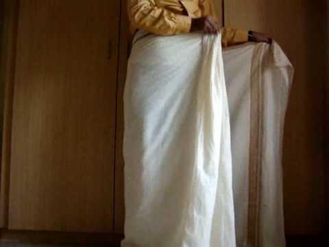 how to wear a mundu / south indian dhoti - www.keralastores.in