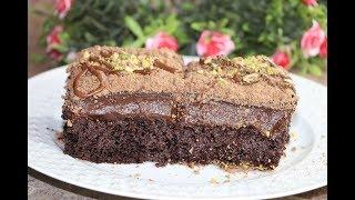 كيكة الشوكولاته السوداء على طريقة التركية كيك الشوكولا مع صلصة الشوكولاتة مع رباح ( الحلقة 380 )
