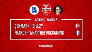 Denmark vs France    Billzy vs WhatTheForkGaming   Football Manager 2018   #FMWorldCup