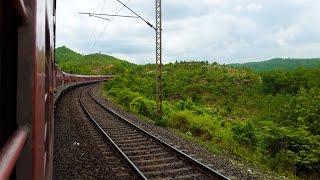 Poorva Express Crosses Gurpa-Gujhandi Ghat Section (In Monsoon)