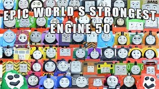EPIC WORLD'S STRONGEST ENGINE 50: 64 Thomas and Friends Engines with PLAY DOH SURPRISES