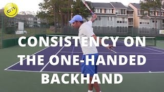 Tennis Tip: More Consistency On Your One-Handed Backhand