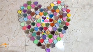 100+ HEART SLIME - MIXING ALL MY SLIME !! SLIME SMOOTHIE   SATISFYING SLIME VIDEOS ! #19