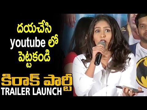Xxx Mp4 Heroine Samyuktha Hegde Superb Cute Telugu Speech Kirrak Party Movie Trailer Launch Nikhil 3gp Sex