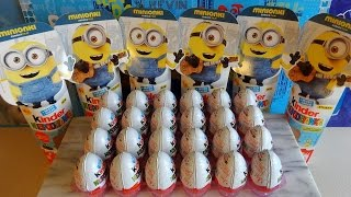 2015 Minions Movie 24 Kinder Surprise Eggs + Vampire & Pirate Toys Huevos Sorpresa