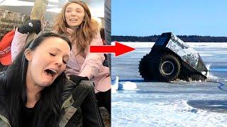 We Fell Through a Frozen Lake!