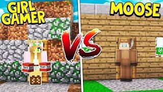 MOOSECRAFT VS GIRL GAMER IN MINECRAFT! (DEATH RUN)
