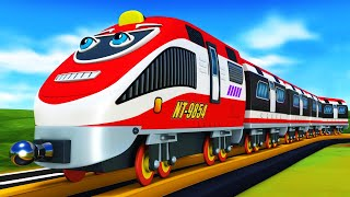 Cartoon Cars and Cartoon Trains for Children - Toy Factory Cartoon.