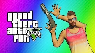 GTA 5 Online Funny Moments - Imaginary Posters & Animation Glitch! (Action Freeze Glitch)