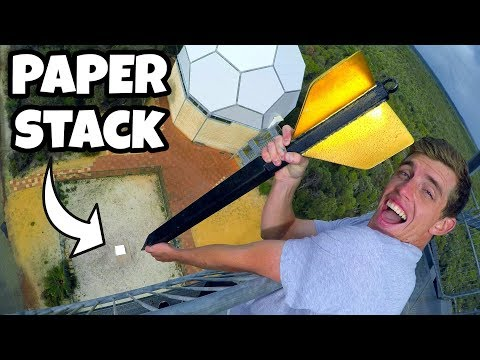 GIANT DART Vs. 1500 SHEETS OF PAPER From 45m
