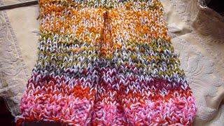 طريقة الفلةتريكو لشغل فستان او تنورة جيبة  جاكيت ملابس اطفال وكبارFull knitwear for a dress
