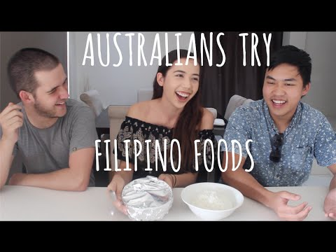 Australians Try Filipino Foods Including Balut