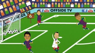 Real Madrid 0-4 Barcelona (goals and highlights of El Clasico! Parody cartoon 21.11.2015)