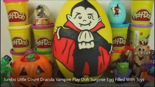 Jumbo Little Count Dracula Vampire Play Doh Surprise Egg Filled With Toys