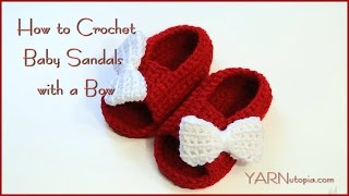 How to Crochet Baby Sandals with a Bow