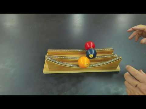 Physics marble track review part one Homemade Science with Bruce Yeany