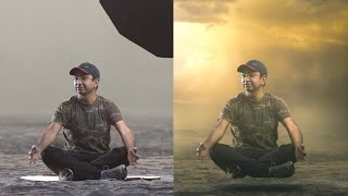 Photoshop Manipulation Tutorial | Replace Background & Light Effects