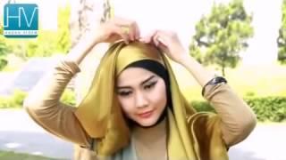 Tutorial Jilbab Modern    Satin Square   Inspired by Fatin Shidqia   Part #34
