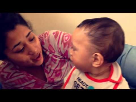 My son giving mommy kiss 8 months old
