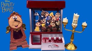 Beauty and the Beast Toy Characters Claw Machine Game for NEW Disney Kids Movie