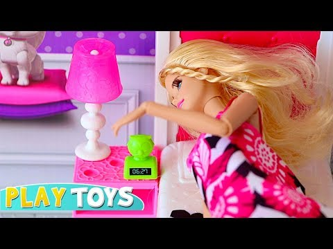 Xxx Mp4 Barbie Doll Bedroom Dollhouse Bathroom Toy Play Barbie Baby Doll Morning Routine Pink Car Scooter 3gp Sex