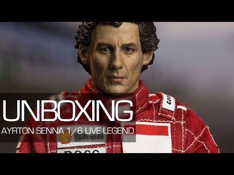 Unboxing - Ayrton Senna 1/6 Live Legend 1993 Brazil Grand Prix - Iron Studios