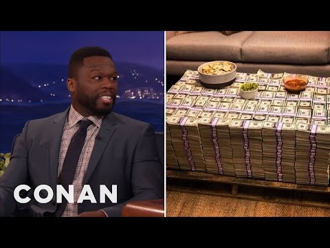 Why Is Curtis '50 Cent' Jackson Posing With Cash If He's Broke CONAN on TBS