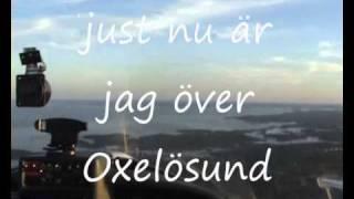 en flygtur över Oxelösund