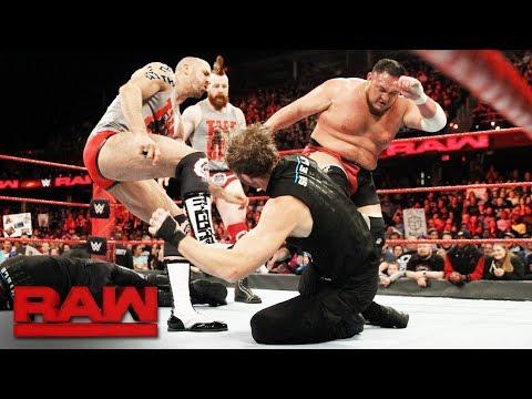 Xxx Mp4 The Shield Brawl With Samoa Joe Sheamus And Cesaro Raw Dec 11 2017 3gp Sex