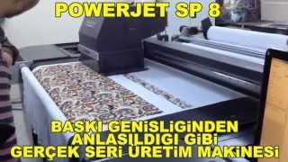 Kumaşa Metraj Dijital Baskı Makinesi POWERJET SP 8 / Digital Fabric Printer