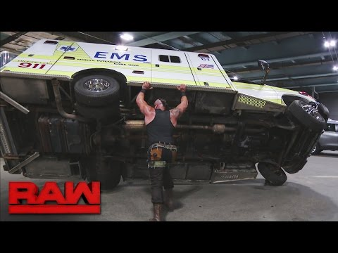 Braun Strowman savagely attacks Roman Reigns: Raw, April 10, 2017