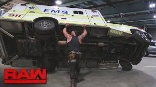 Braun Strowman savagely attacks Roman Reigns: Raw, April 10, 2017