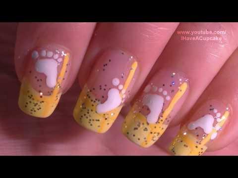 Simple Baby Nail Art Tutorial Arte para las unas de bebe