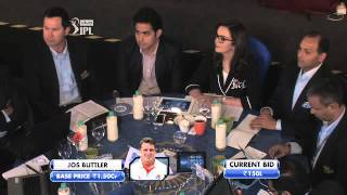 Funny Bidding War Between KKR and MI for Jos Buttler! IPL Player Auctions 2016