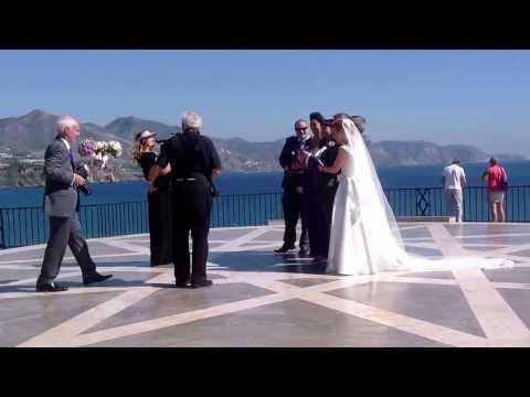 Nerja calm sea, Balcon wedding