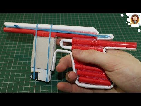 Como hacer Pistola de Papel que Dispare Armas Caseras Fáciles