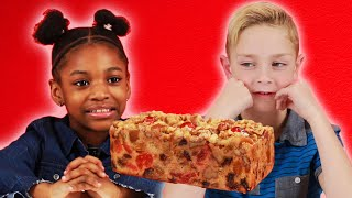 Kids Try Fruitcake For The First Time