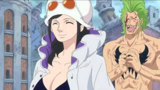 one piece 736 - strawhats reunite after doffy's defeat