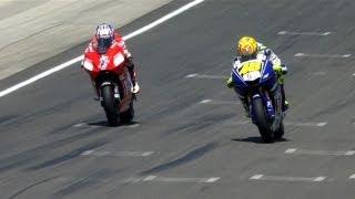 MotoGP Historic Battles -- Rossi vs Stoner Laguna Seca 08'